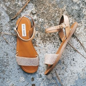 Steve Madden Ruthie Ankle Strap Rhinestone Sandals